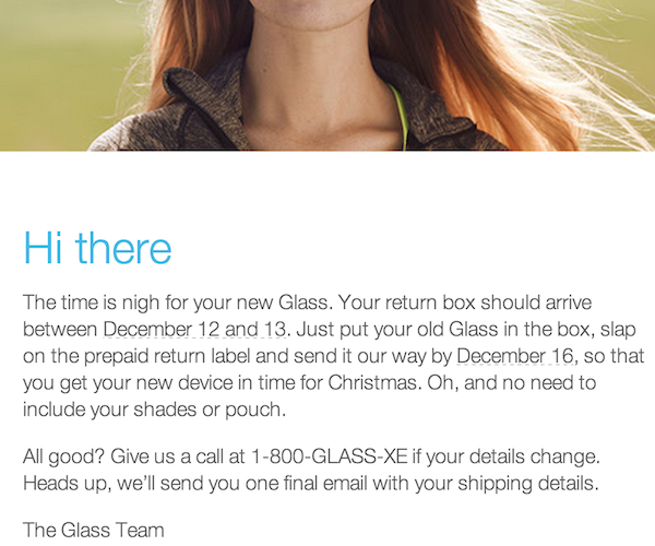 Google Glass Swap EMail
